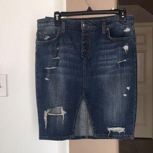 Joe's high waisted destroyed skirt NEW
